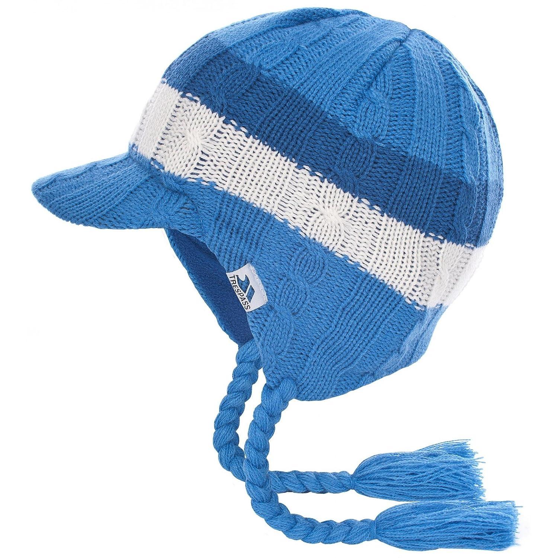 Trespass Childrens Boys Lobo Peruvian Style Ear Warmer Peak Hat