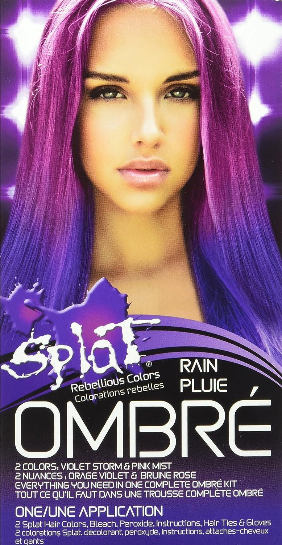 Buy Splat Rebellious Hair Color Kit Ombre Rain 2 Colors Violet