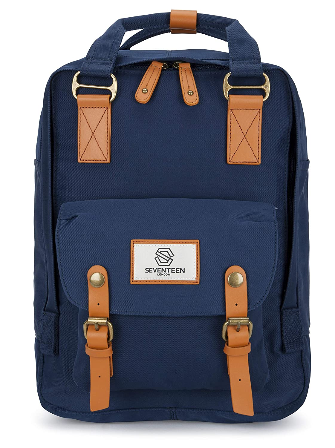 SEVENTEEN LONDON – Marylebone Classic Unisex Backpack for College School Travel Luggage Bag
