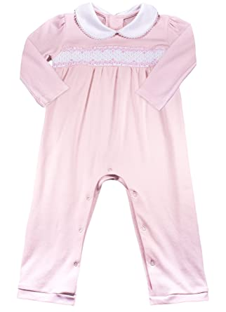 0e1cc5d5607a Amazon.com  Baby Girls  100% Organic Pima Cotton Layette - Hand ...