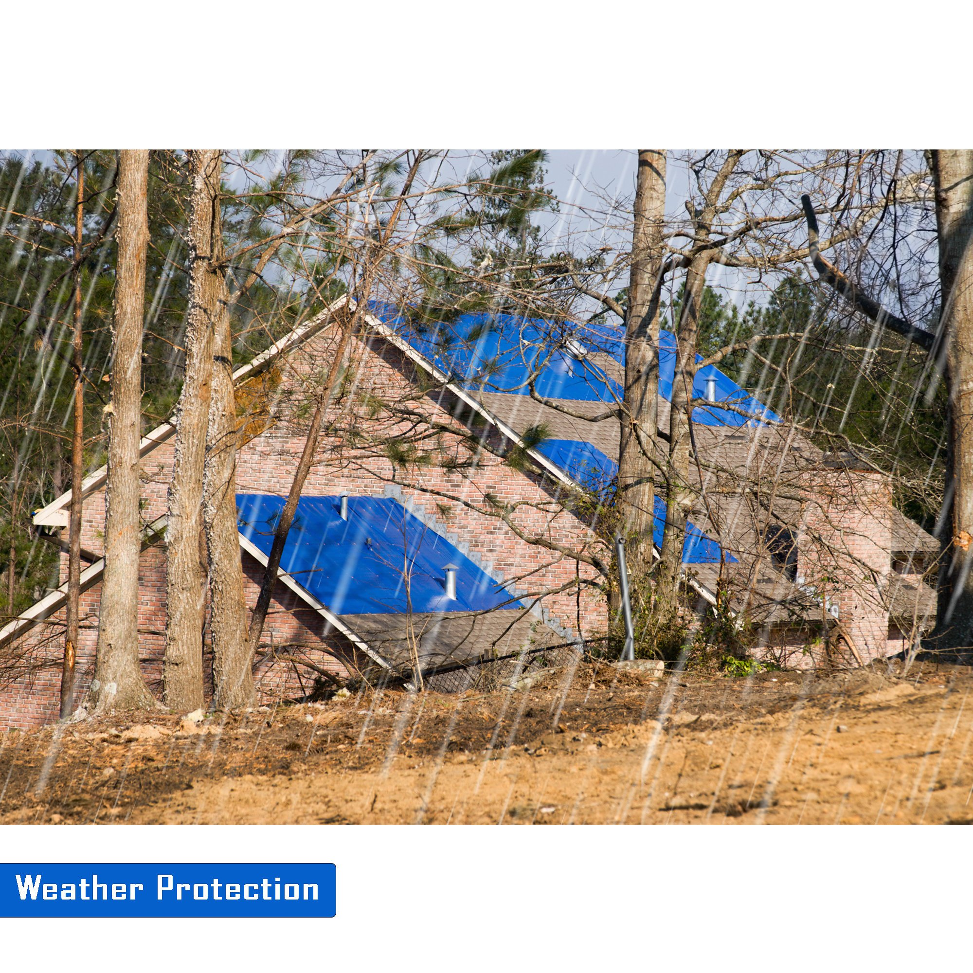 20'x25' Blue Multi-purpose 6ml Waterproof Poly Tarp Cover with Tent Shelter Camping Tarpaulin By Prime Tarps by TARPATOP (Image #4)