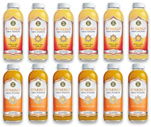 LUV BOX-Variety GT's KOMBUCHA Synergy Kombucha Pack,16 fl oz,12 pk,Pink Lady Apple , Mystic Mango