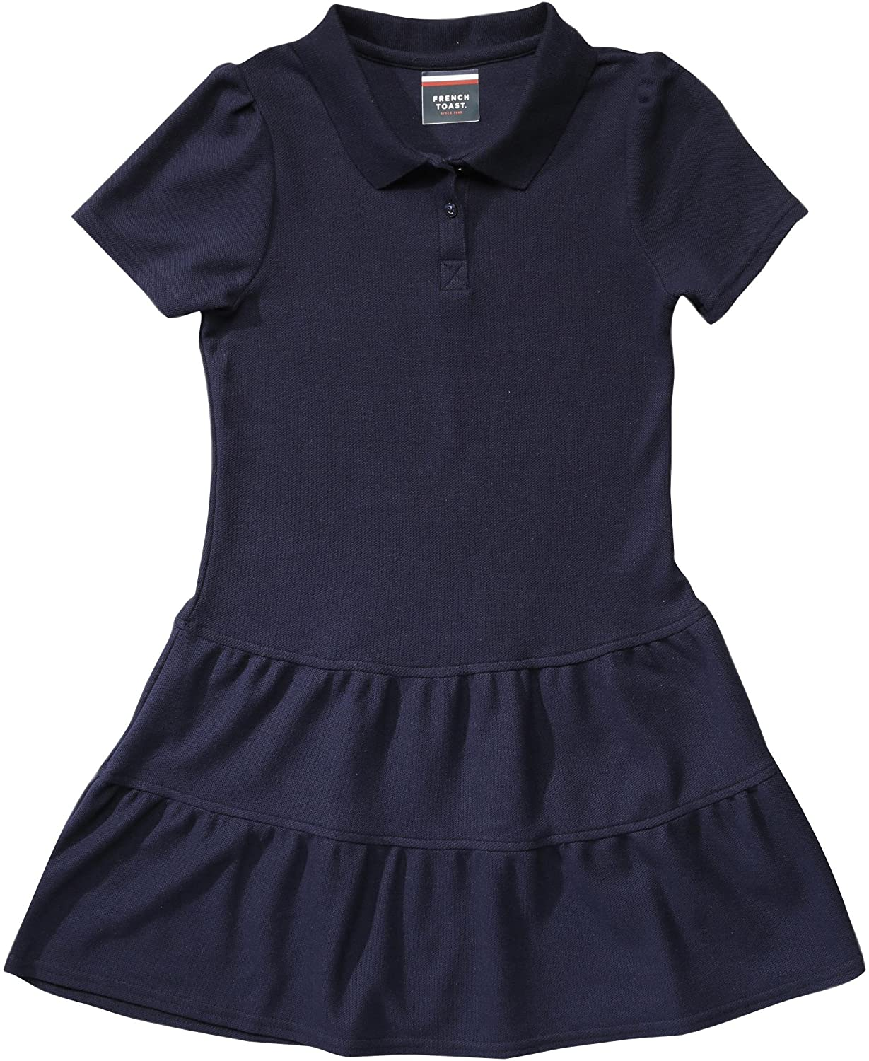 French Toast School Uniform Girls Ruffled Pique Polo Dress