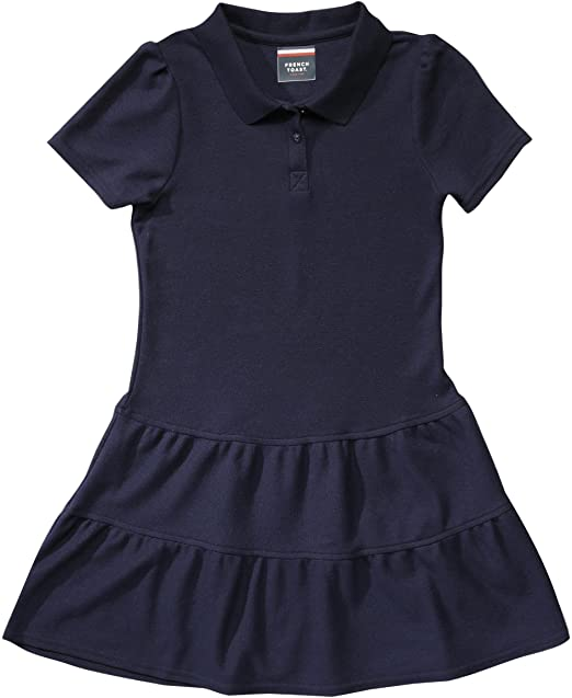 2c5f8965e8 French Toast School Uniform Girls Ruffled Pique Polo Dress
