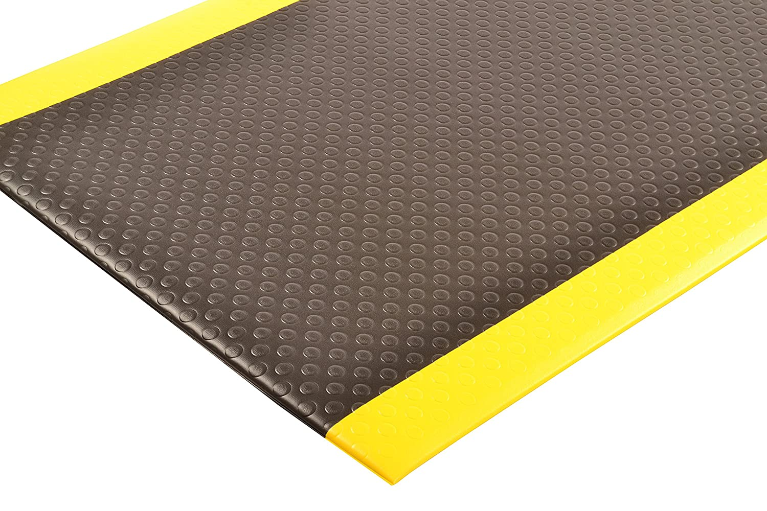 Black//Yellow for Dry Areas 3 Width x 12 Length x 1//2 Thickness NoTrax 417 Bubble Sof-Tred Safety//Anti-Fatigue Mat with Dyna-Shield PVC Sponge