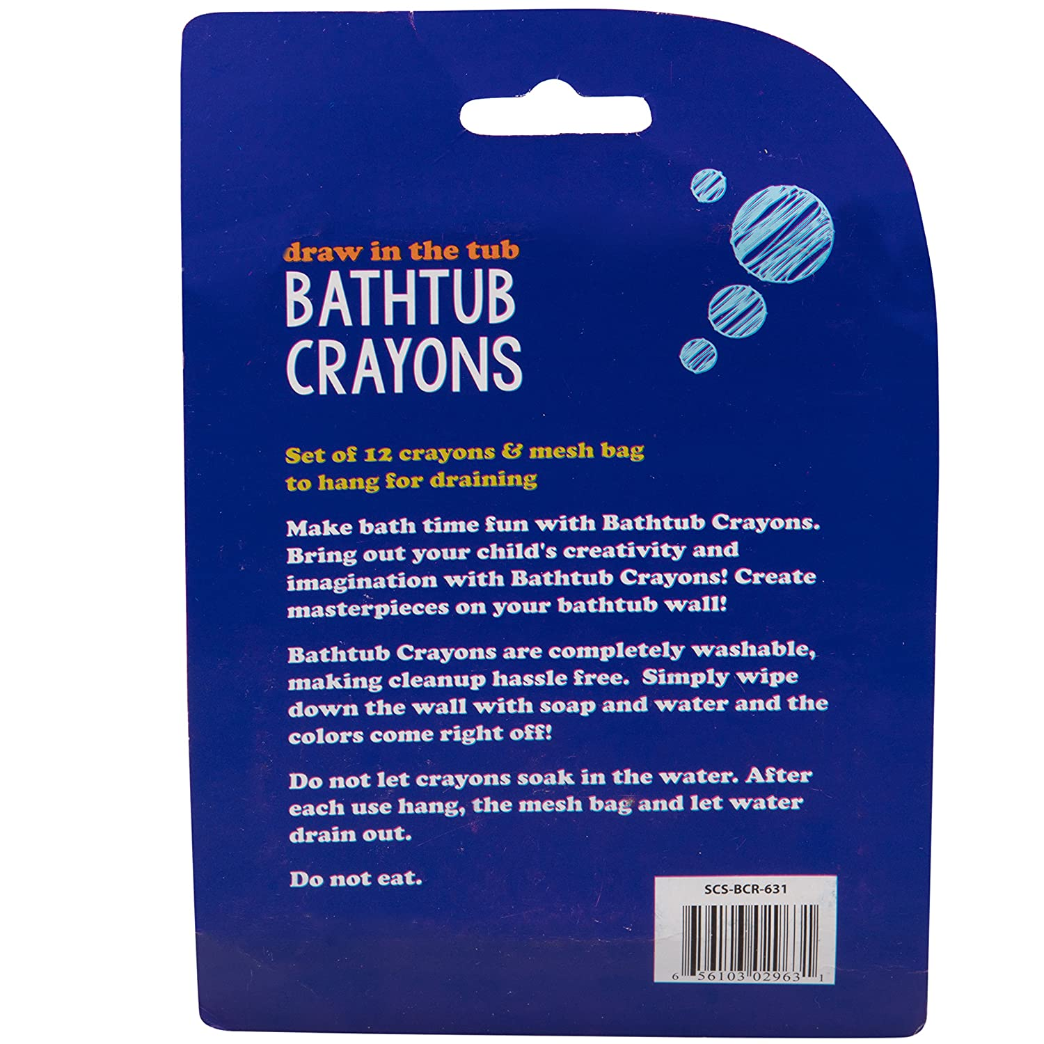 Set of 12 Draw in the Tub Colors with Bathtub Mesh Bag SCS Direct Bath Crayons Super Set