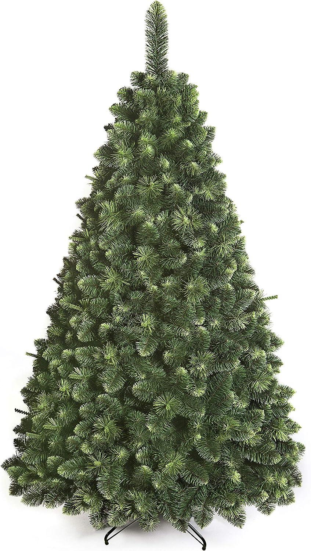 DWA ARBOL Navidad Grande en Caja, Bosque Tradicional Verde Lujo con Soporte (220 cm, Young Pine): Amazon.es: Jardín