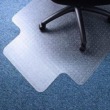 135cm Desk Chair Mat Carpet Wood Laminate Floor Protector PVC Plastic Home BM