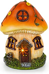Mushroom Fairy House Solar Garden Light