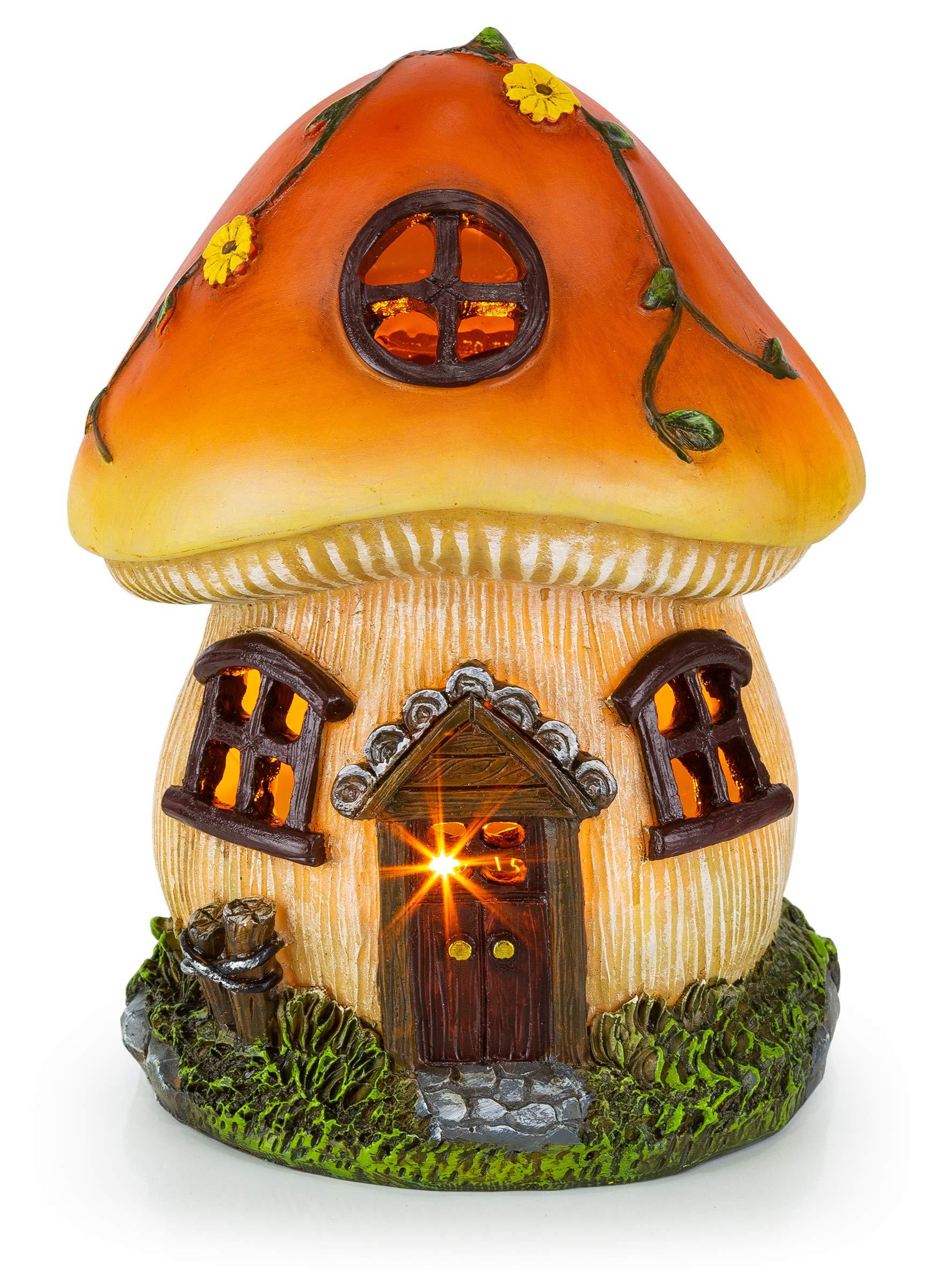 Mushroom Fairy House Solar Garden Light