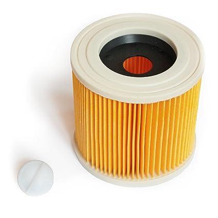 MI:KA:FI Filtro de cartucho | para Kärcher Aspiradora en seco y húmedo | WD2 + WD3 + WD2.200 + WD3.200 + WD3.300 M + WD3.500 P + SE 4001 + SE 4002 | ...