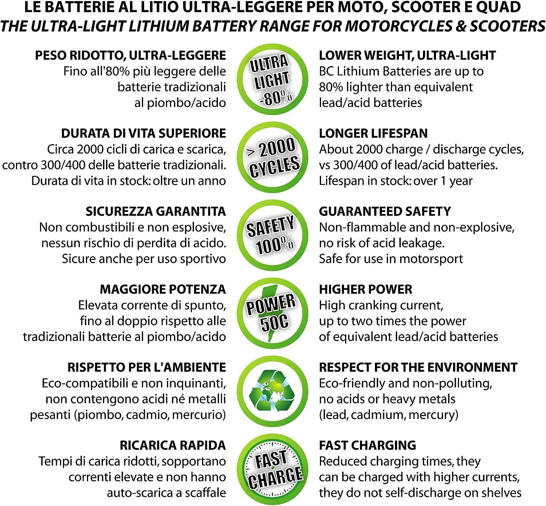 Bc Lithium Batteries Bctx20h Fp Sq Motorrad Lithiumbatterie Lifepo4 Hjtx20h Bs Ytx20h Bs Ytx20hl Bs Auto