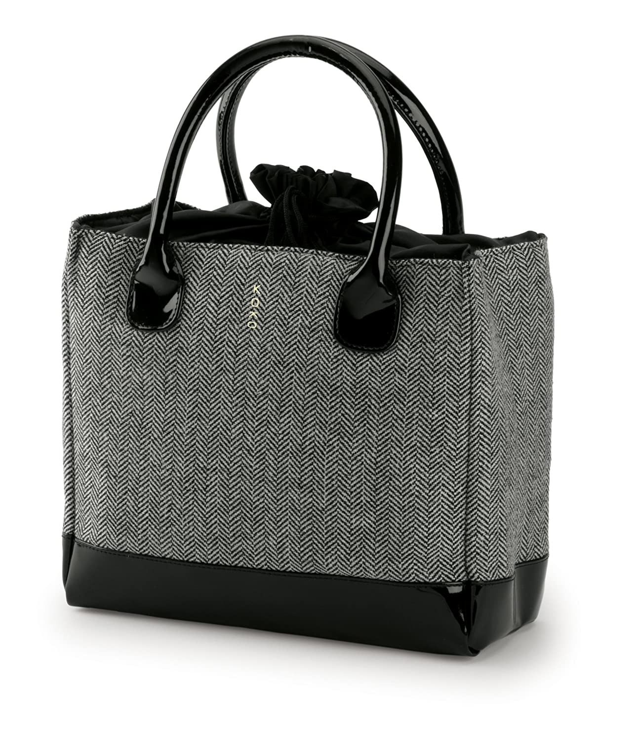 Koko Kate Lunch Bag, Black Tweed Polyester
