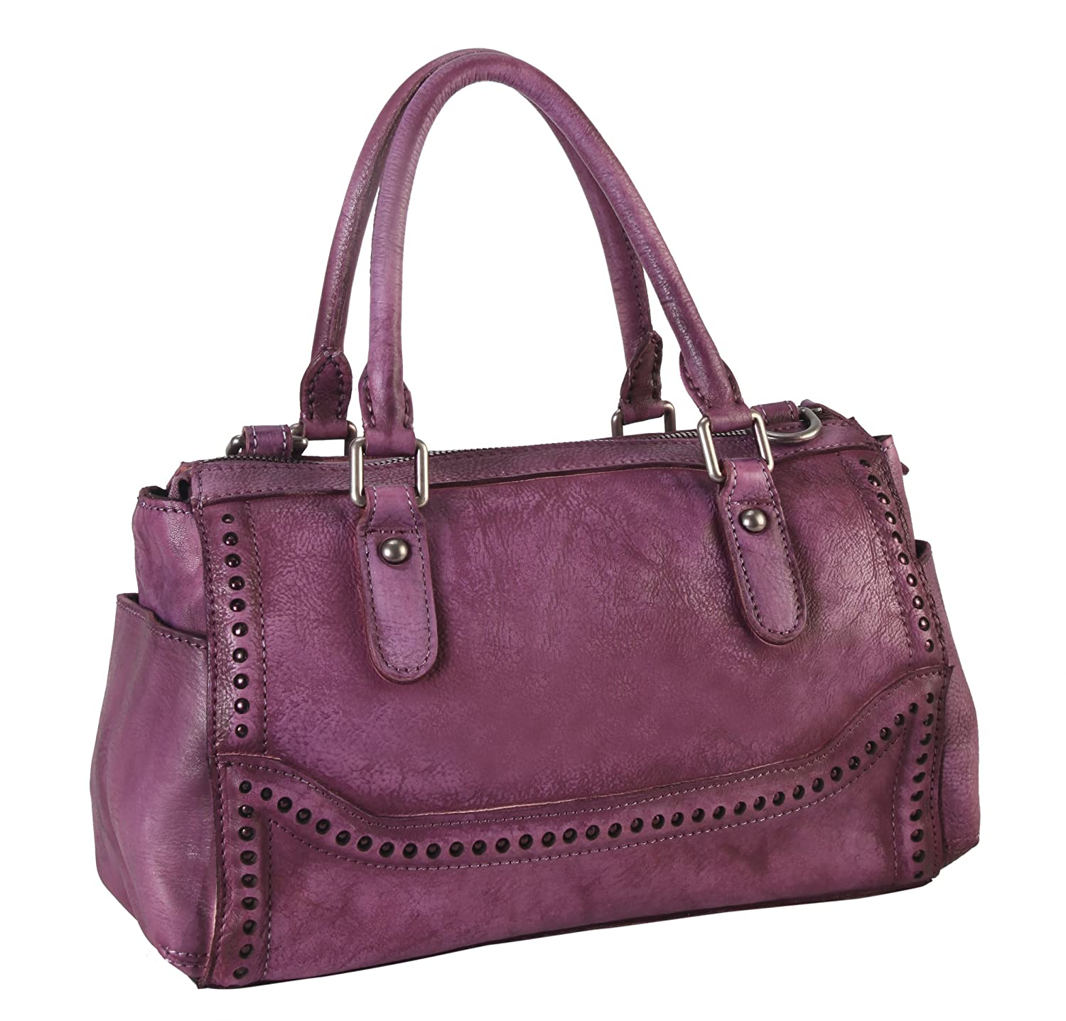 5d5068d7edc6 Diophy Genuine Leather Old Fashion Top Handles Doctor Style Handbag 140155