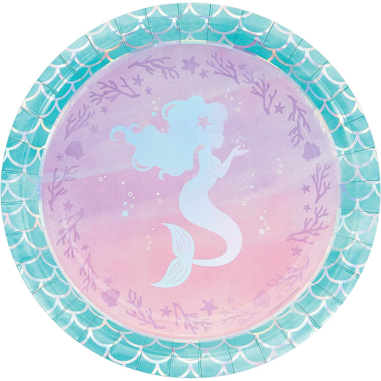 Amazon.com: Iridescent Mermaid Party Paper Plates, 24 ct: Toys \u0026 Games