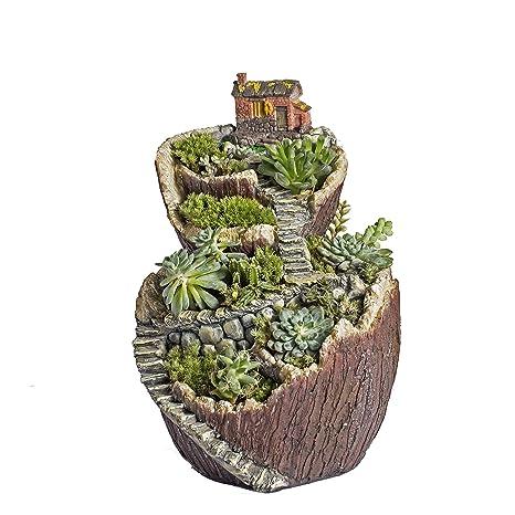 Fairy Garden Planter Succulents Plants Flower Pot Ncyp Miniature