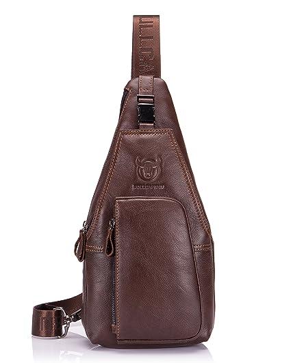 Cuero Leather Men Messenger Bags Casual Crossbody Business Men/'s Handbag bolso