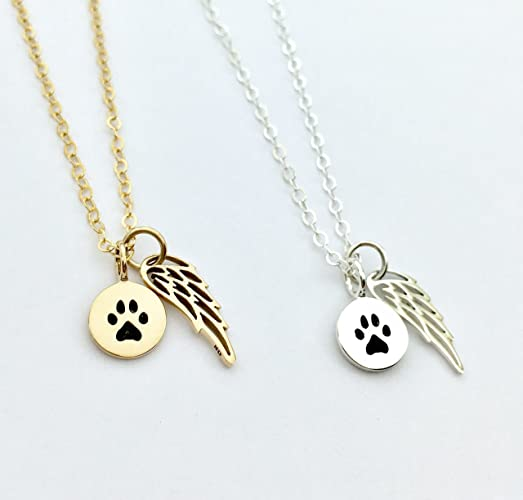 Amazon sterling silver pet loss gift cat memorial necklace sterling silver pet loss gift cat memorial necklace dog paw print jewelry loss aloadofball Images