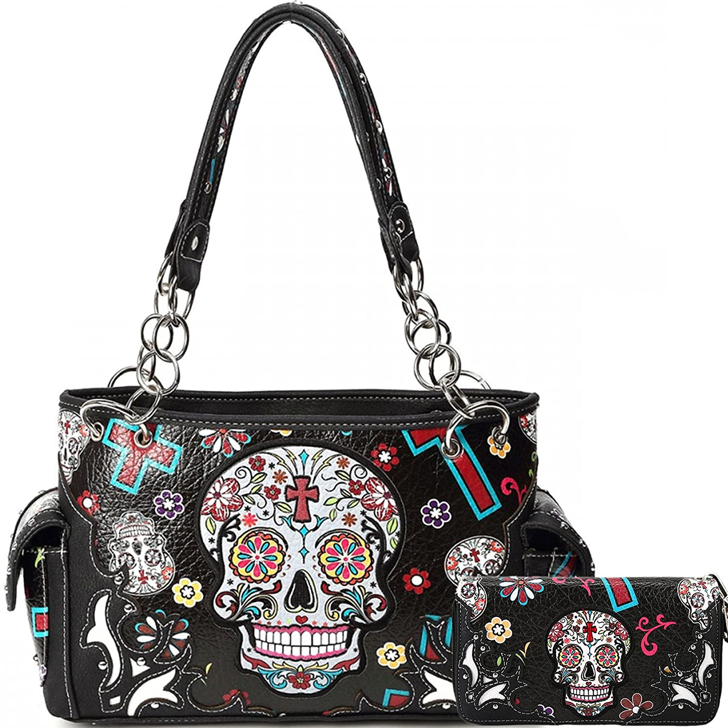 Sugar Skull Purse With Concealed Carry Pocket Day Of The