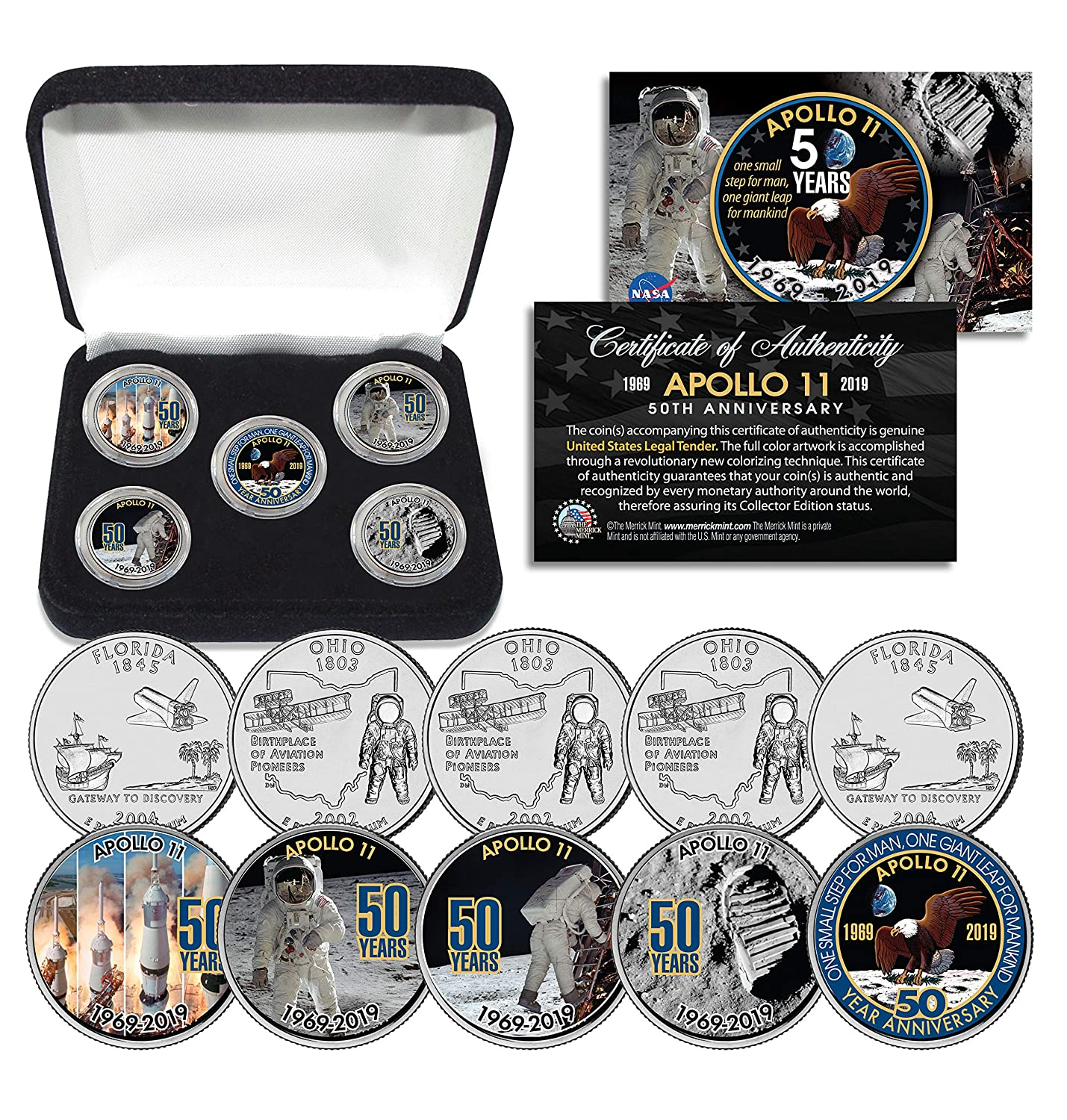 Amazon.com: APOLLO 11 50th Anniversary Man on Moon Statehood ...