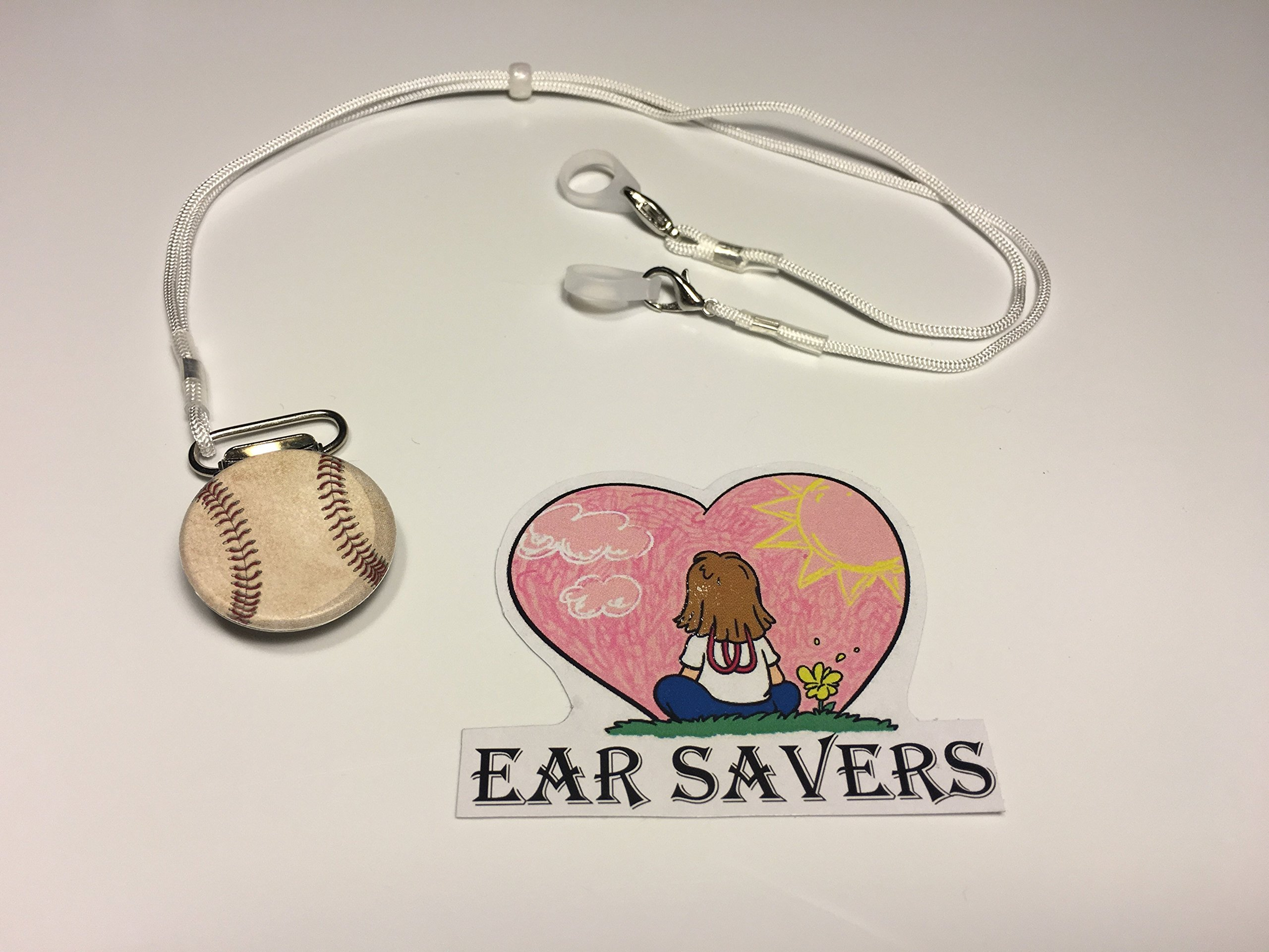 Bilateral Baseball Lanyard Clip for Hearing Aids or Cochlear Implants