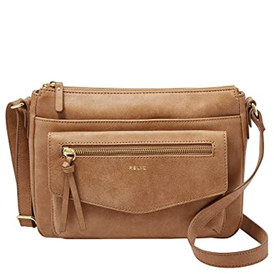 94c0014732 Image Unavailable. Image not available for. Color: Relic by Fossil Women's  Allie Crossbody Handbag Purse, Color: Camel
