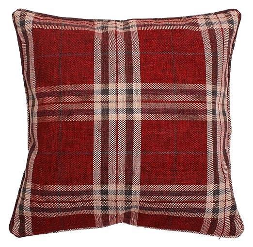 Intimates - Funda de cojín de lana, diseño de cuadros ...