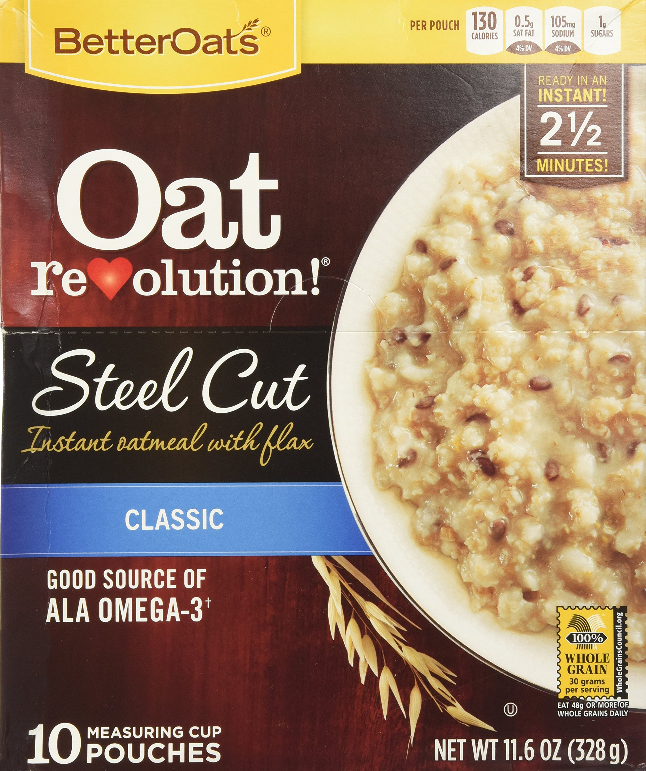 Instant Oatmeal Costco : Amazon better oats steel cut with flax classic