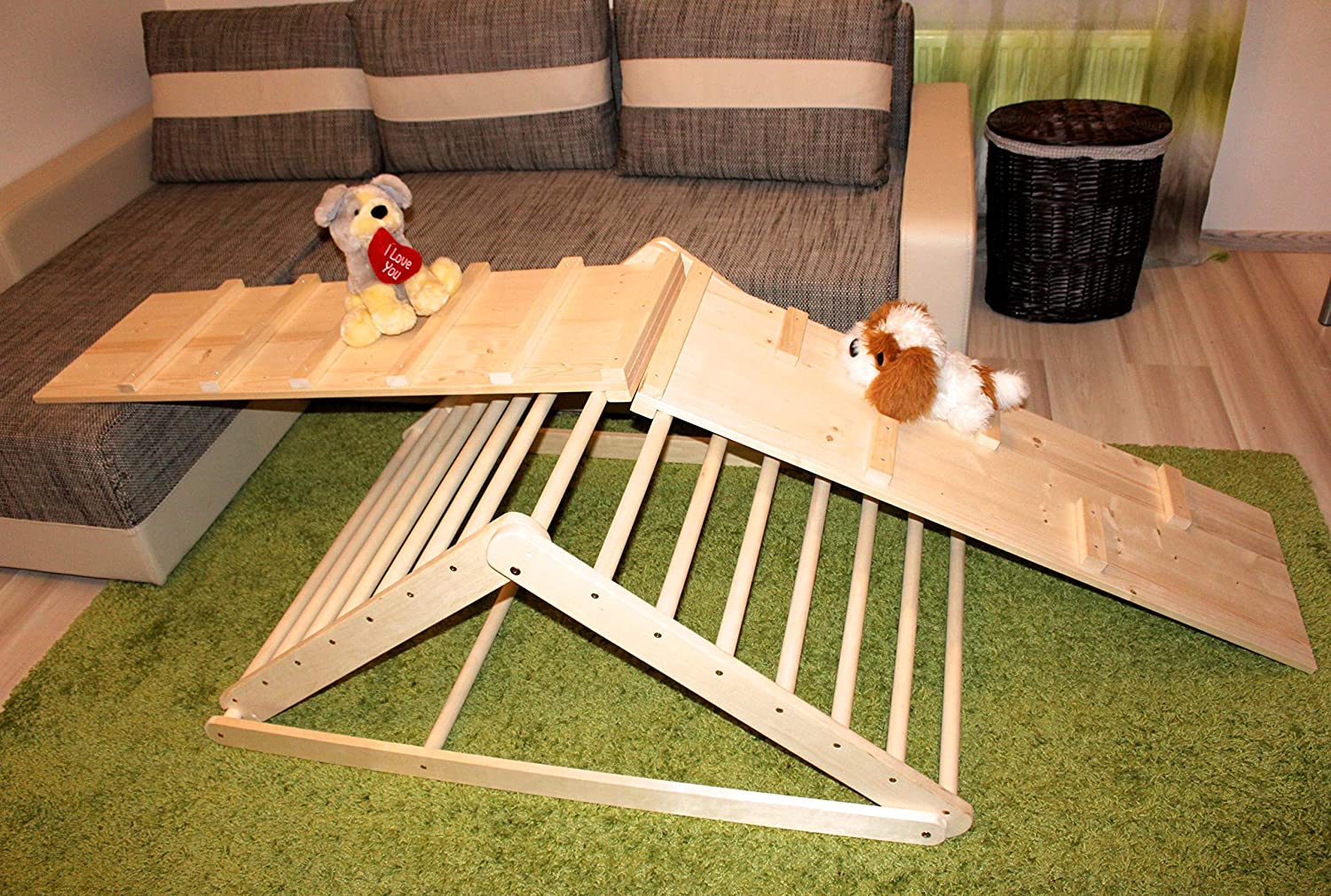Pikler triangle, Step Triangle, Climbing triangle for toddlers . You can add ladder board.
