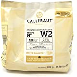 Callebaut N° W2 - Finest 28% Belgian White Chocolate Couverture (Callets) 400g