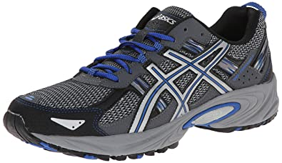 ASICS Men's Gel Venture 5 Running Shoe, Silver/Light Grey/Royal, 8