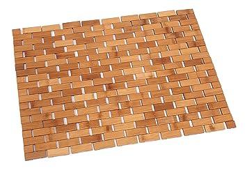 Tappeto bagno stuoia sauna di bambù 40x60 cm bambÙ ecologico ed
