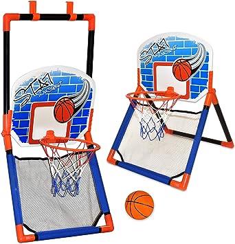 Amazon.com: Aros de baloncesto para niños – 2 en 1 sobre la ...