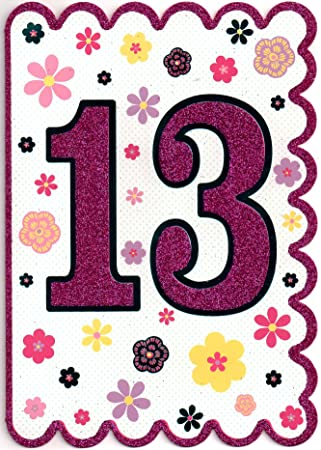 Birthday Card For Teenager 13 Year Old Girl
