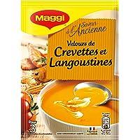 Maggi Soupe Saveur à l'Ancienne Velours de Crevettes et Langoustines à la Crème (1 Sachet) - 74g - Lot de 14