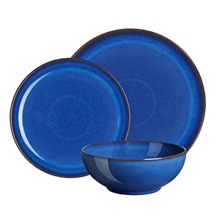 Denby 12-Piece Stoneware Imperial Breakfast Plate \u0026 Bowl Set Blue  sc 1 st  Amazon UK & Denby 12-Piece Stoneware Imperial Breakfast Plate \u0026 Bowl Set Blue ...