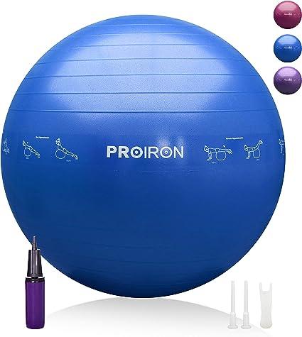 PROIRON Pelota de Pilates 55cm Fitball Pilates Pelota Embarazo ...