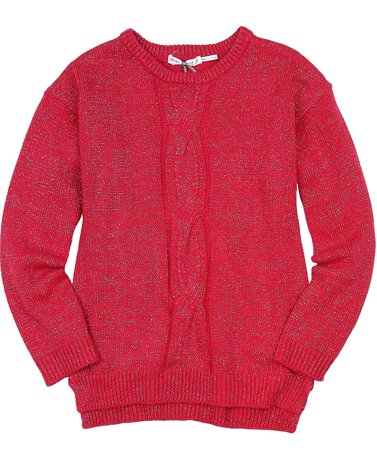 Deux par Deux Girls' Cable Sweater an Eye on Fashion, Sizes 5-12