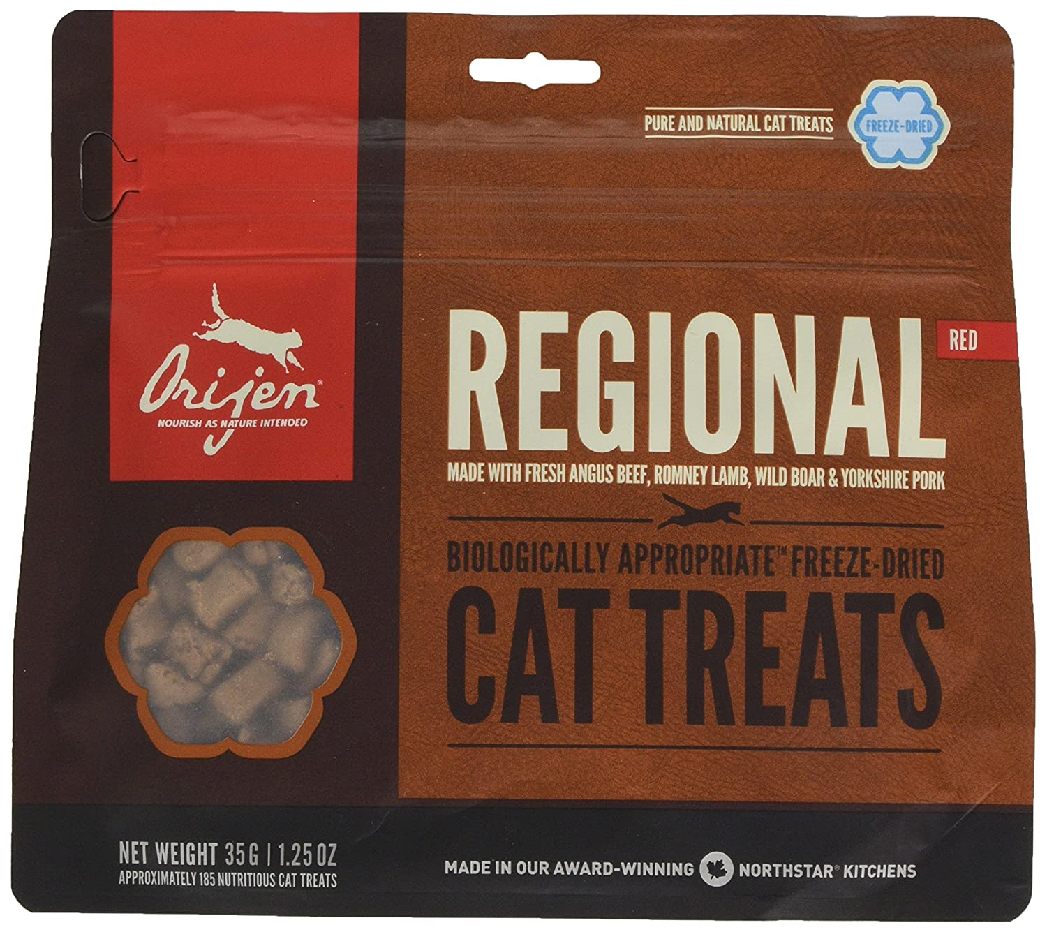 Origen - Orijen Regional Red Gato Treats - 545 - 35 Grs: Amazon.es: Productos para mascotas