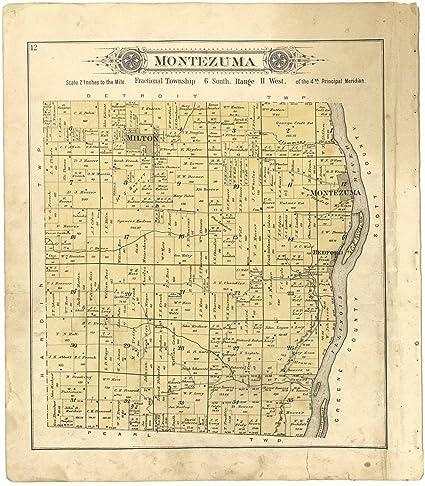 Amazon Com Historic 1895 Map Plat Book Of Pike County Illinois