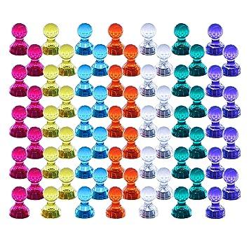 Push Pin Imanes, 60 unidades, color fuerte magnético chinchetas ...