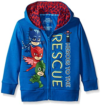PJMASKS Boys Toddler Zip Up Hoodie, Blue, ...