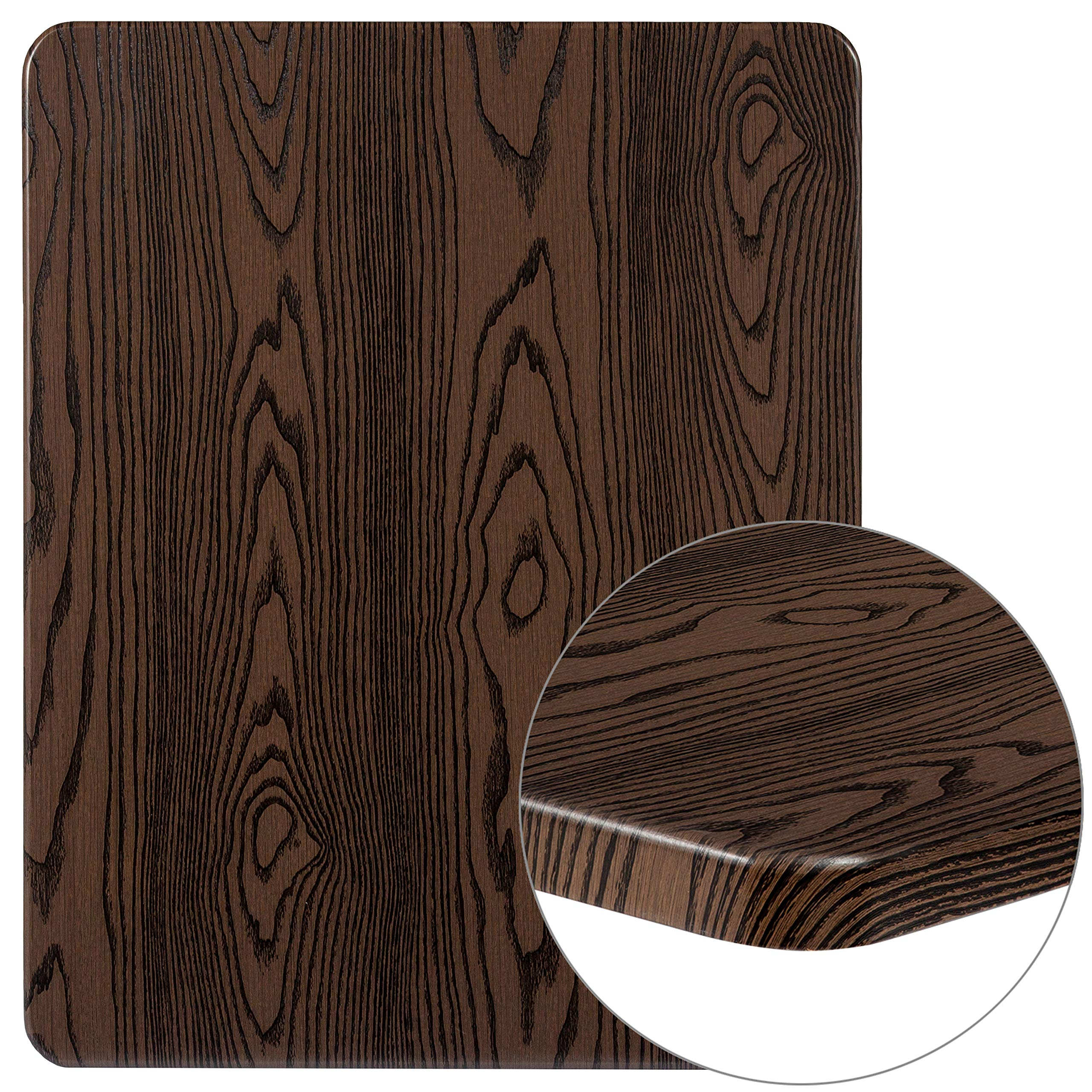 Flash Furniture XU-2430-WD-GG Rustic Wood Grain Laminate Restaurant Table Tops 1 Pack