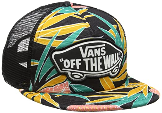 Vans Beach Trucker Hat, Gorra de béisbol para Mujer, (Black Tropical H3r)
