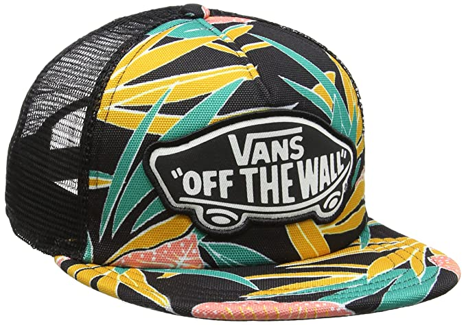 Image Unavailable. Image not available for. Color  Vans Beach Girl Trucker  Hat Black Tropical OSFA 6e8f3ca15b71