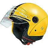 Jmd Helmets Open Face Yellow Color Helmet (M) Size)
