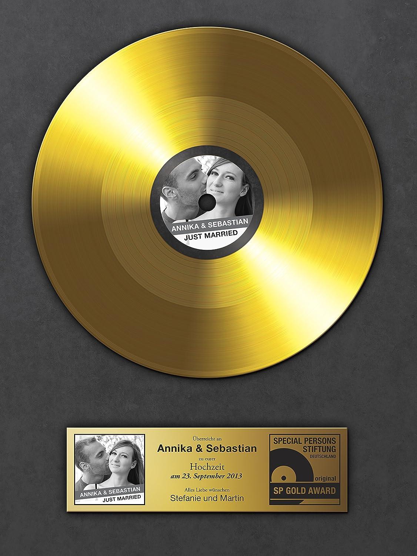 Amazon.de: Goldene Schallplatte zur Hochzeit - Urkunde ...