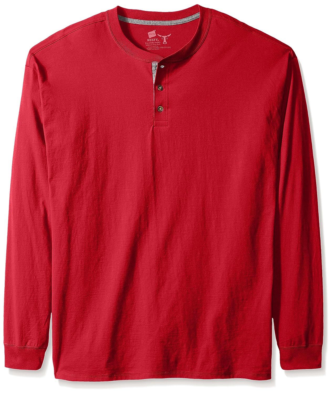 Hanes mens Hanes Men's Long-sleeve Beefy Henley Shirt O5719