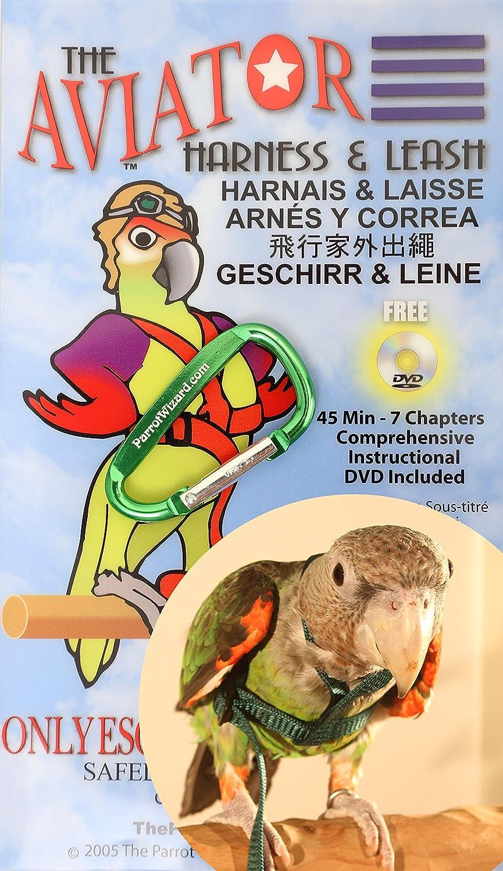 Aviator Arnés para loros (elegir tamaño y color) con Secure Bono ...