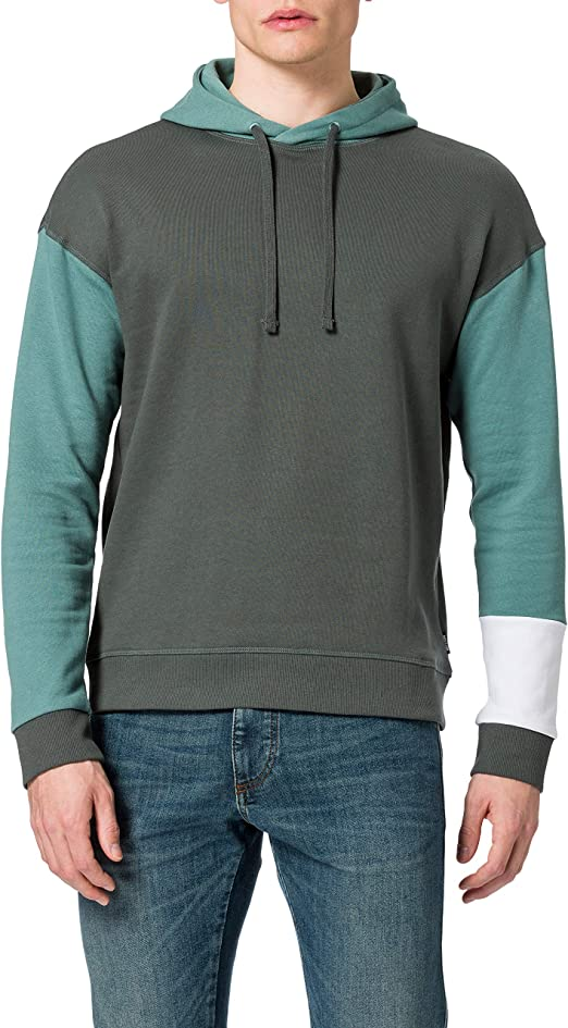 TALLA M. Only & Sons Onskalle Life Dropshoulder Sweat Hoodie Sudadera con Capucha para Hombre